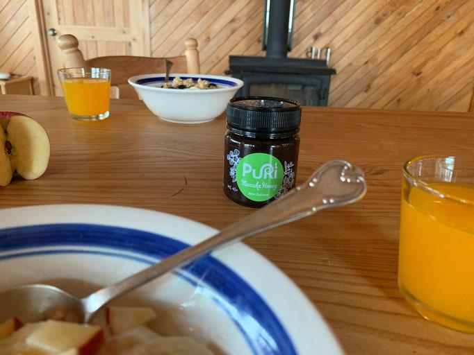 Puri Manuka Honey on your breakfast table