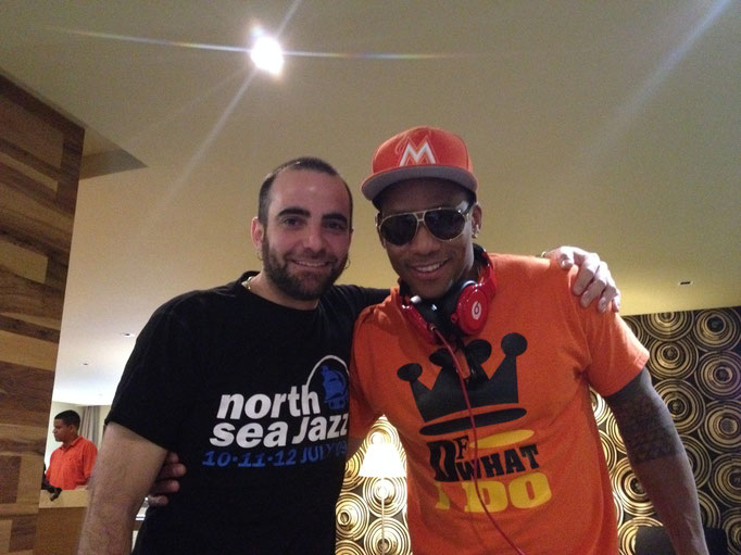 Con Pedrito Martínez