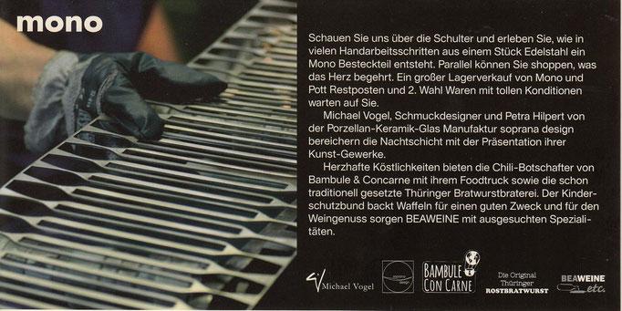 mono design Einladung