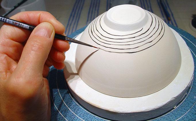 Bemalen von Porzellan