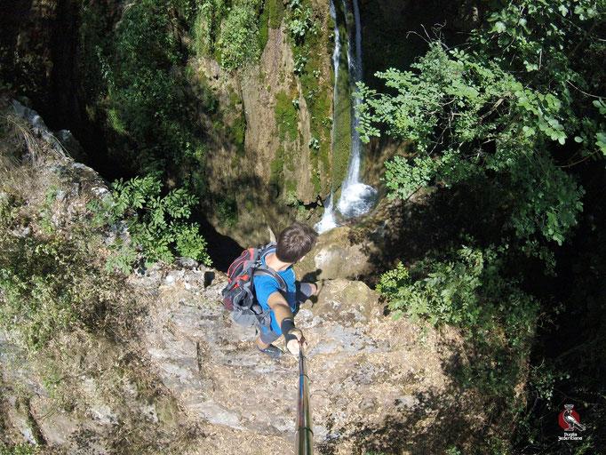 Una delle Cascate più alte, sul Sentiero n.4, difficilmente raggiungibile senza le adeguate attrezzature