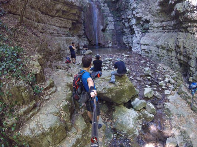 La cascata di 20 m sul Sentiero n.3