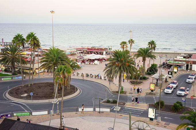 Blick aus dem Fester auf die Promenade