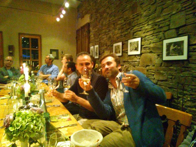 左がマルコ(イタリア)と、右がロバート(スロバキア)。ここでロバートが私と同じ年の40歳という事が判明!!