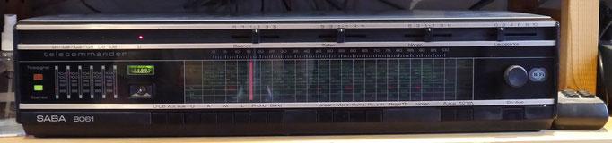 Saba 8061, Ultraschall-Fernbedienung, mit der sich nicht nur die gespeicherten Sender abrufen lassen, sondern mit der sich auch die Gleitschieberegler motorisch bewegen lassen, Ein Erbstück von meinem Vater