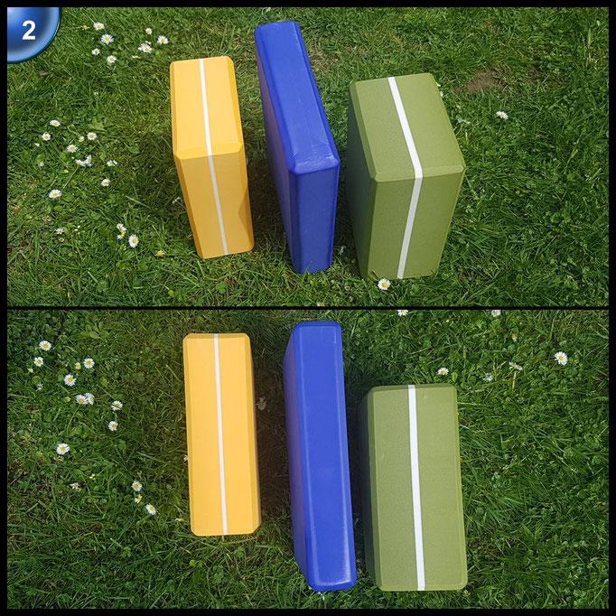 Yogablock »Kalidas« Yogaklotz gelb aus gehärteten Schaumstoff (Hartschaum) Gesamtgewicht liegt bei ca.270g / Größe von 23 cm x 15 x 7 cm