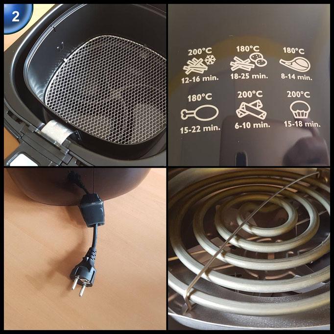 Philips HD9220/20 Airfryer Heißluftfritteuse, 1425 W, schwarz