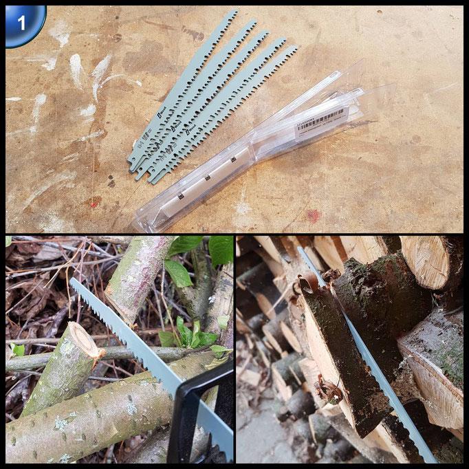 Ultrawork Säbelsägeblatt-Set, Sägeblätter für Holz, verwendbar mit Reciprosäge bzw. Säbelsäge, 5-teilig