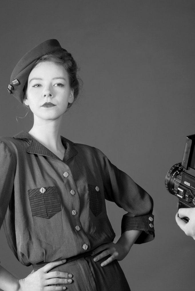 Katherine Hepburn - Gewandschnittprojekt                            Foto: Mirja Zentgraf