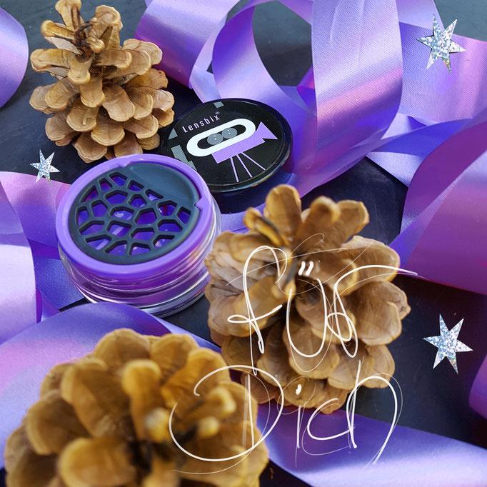 Purple Schleifen Arangement Lensbix Kontaktlinsenbehälter Aktuell Weihnachten