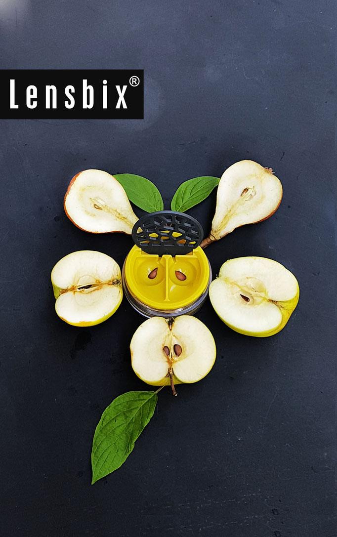 Lensbix  zweimal hinsehen - Gucki frutti - früh morgens / Kontaktlinsenbehälter / Kontaktlinsenbox / Box für Kontaktlinsenaufbewahrung