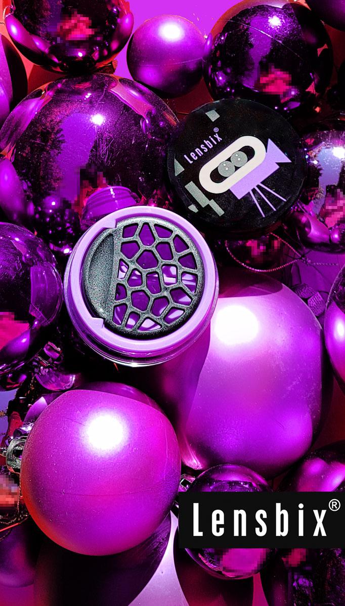 Lila Weihnachtskugeln Lensbix Kontaktlinsenbehälter Aktuell Weihnachten