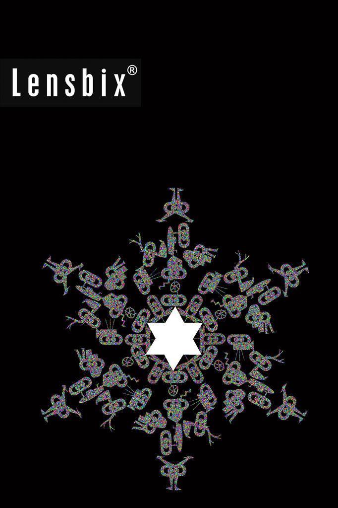Lensbix Weihnachtsstern Kontaktlinsenbehälter Aktuelles Weihnachten