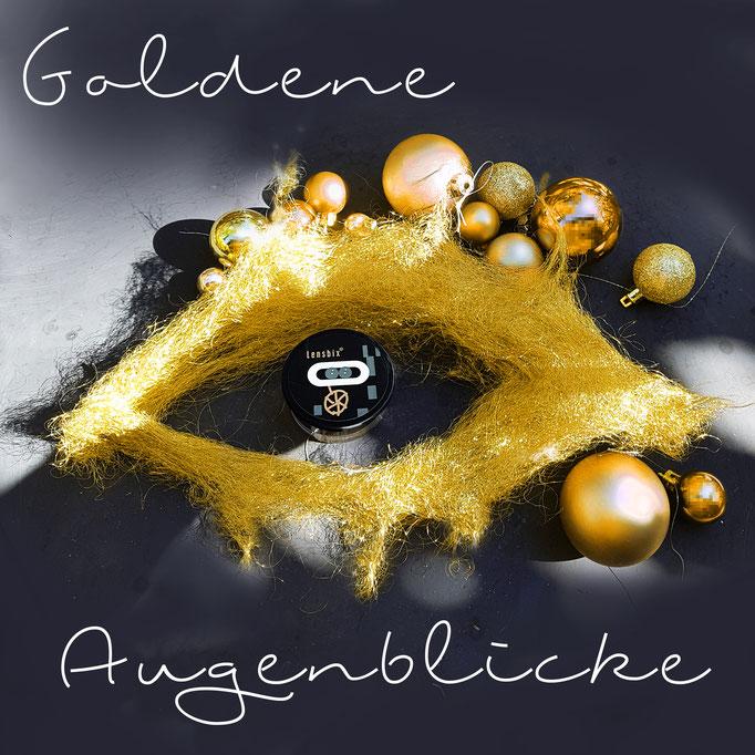 Goldene augenblicke schenken Lensbix Kontaktlinsenbehälter Aktuell Weihnachten