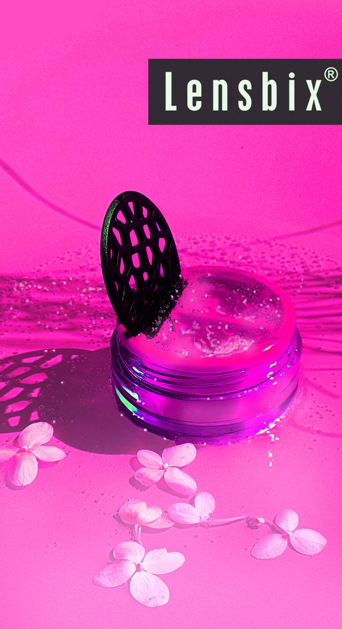 Lensbix mood - Geschenkidee für Kontaktlinsen -trägerinnen / Kontaktlinsenbehälter / Kontaktlinsenbox / Behälter für Kontaktlinsenaufbewahrung  in Geschenkverpackung