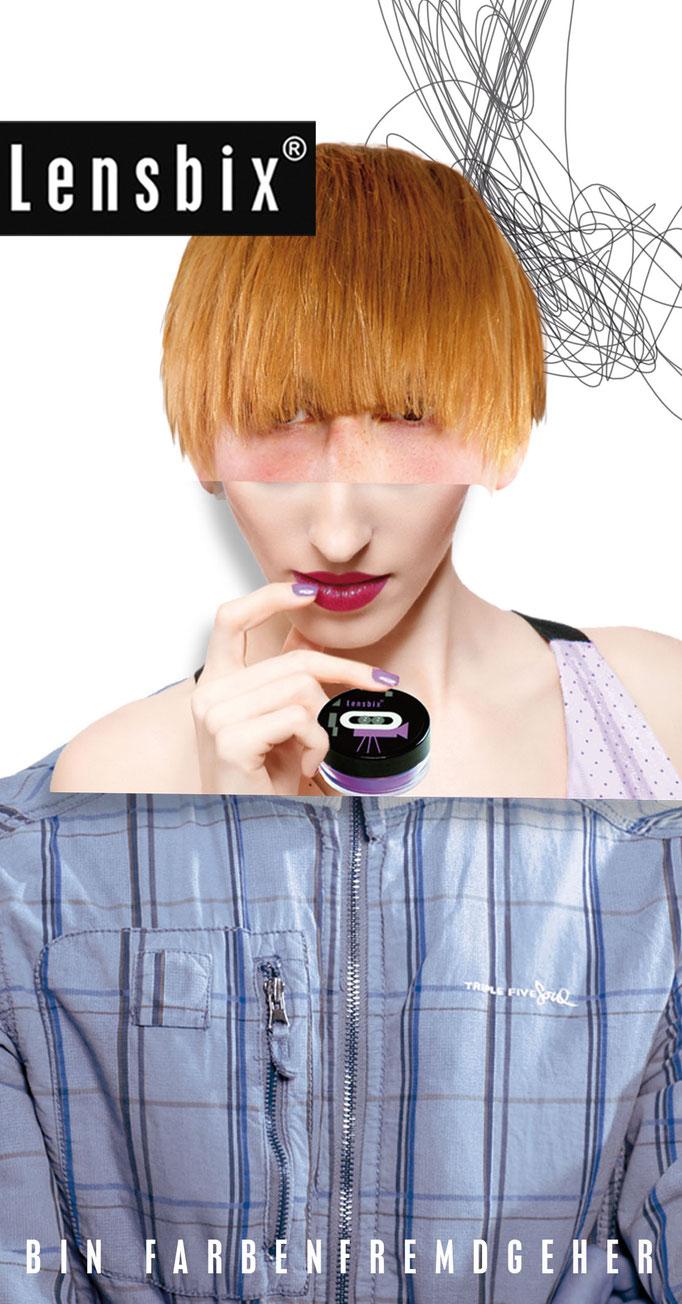 Lensbix Cult Club - lila Typ wählt einfach blau - Teile unsere Leidenschaft. Gehe farbenfremd! Sei nicht wie alle anderen!/ Kontaktlinsenbehälter / Kontaktlinsenbox / Behälter für Kontaktlinsenaufbewahrung /