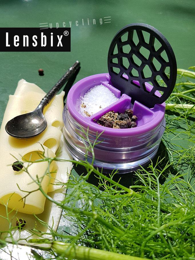 Lensbix upcycling -  Eine Prise da, einen Prise dort!  / Kontaktlinsenbehälter / Kontaktlinsenbox / Box für Kontaktlinsenaufbewahrung  / Kontaktlinsendose / #Kontaktlinsen-behaelter