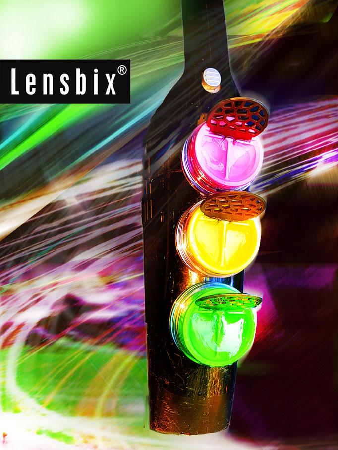 Lensbix  zweimal hinsehen -nimm Fahrt auf!/ Kontaktlinsenbehälter / Kontaktlinsenbox / Box für Kontaktlinsenaufbewahrung