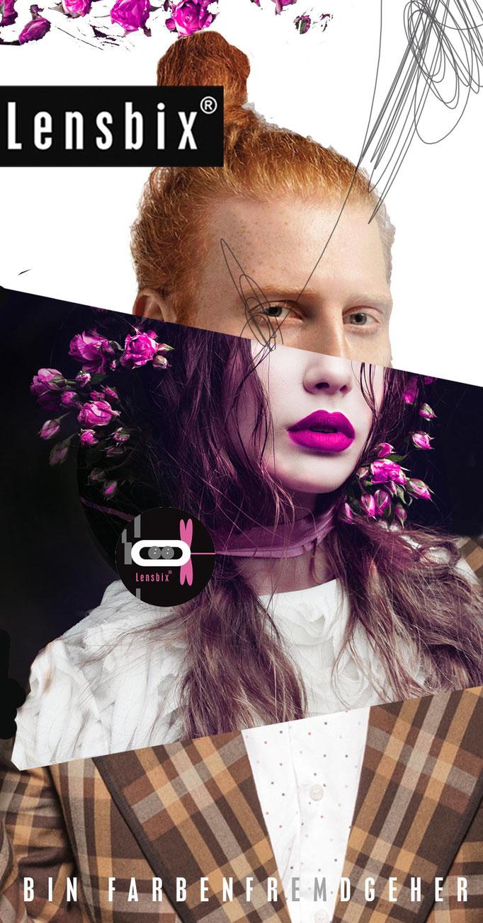 Lensbix Cult Club - cappuccino Typ wählt einfach pink - Teile unsere Leidenschaft. Sei anderens! / Kontaktlinsenbehälter / Kontaktlinsenbox /  Behälter für Kontaktlinsenaufbewahrung /