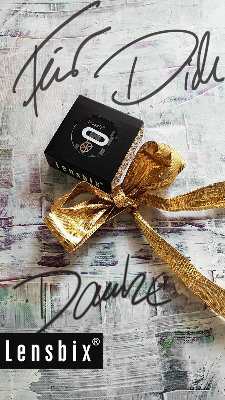 Für Dich / Kontaktlinsenbehälter / Kontaktlinsenbox /Behälter für  Kontaktlinsenaufbewahrung  in Geschenkverpackung