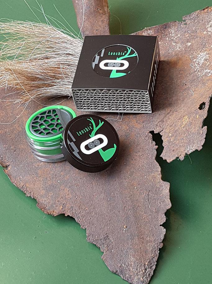 Lensbix mood - Geschenkidee für den Kontaktlinsenträger im Wald und auf der Heide / Kontaktlinsenbehälter / Kontaktlinsenbox / Behälter für  Kontaktlinsenaufbewahrung  in Geschenkverpackung