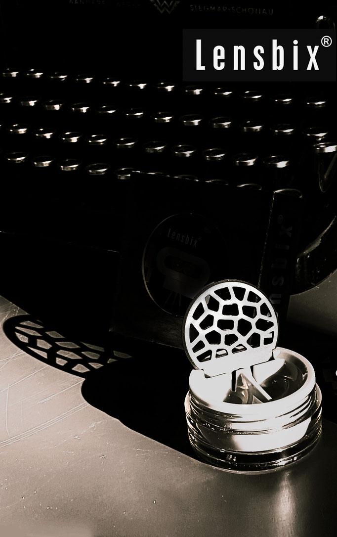 Lensbix  mood - Geschenkidee, weil lange Schatten immer Geschichten erzählen! / Kontaktlinsenbehälter / Kontaktlinsenbox / Behälter für Kontaktlinsenaufbewahrung  in Geschenkverpackung