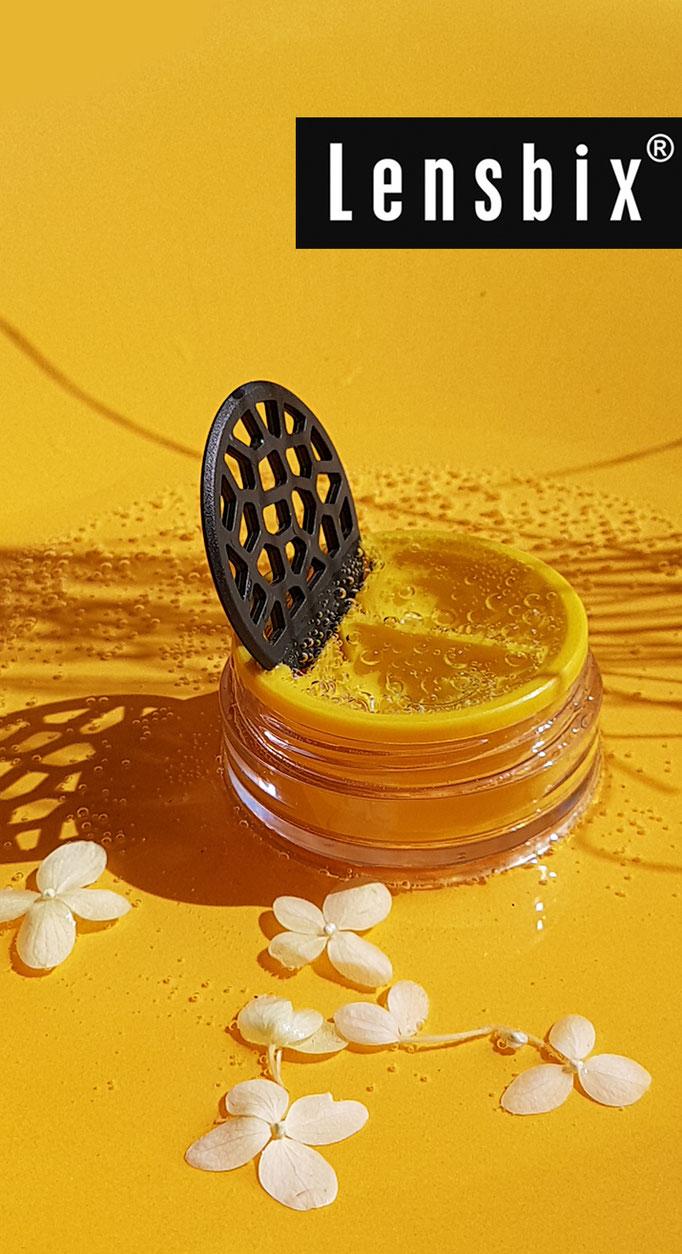 Lensbix mood - Geschenkidee im sunshine fever / Kontaktlinsenbehälter / #Kontaktlinsenbox / Behälter für  Kontaktlinsenaufbewahrung  in Geschenkverpackung