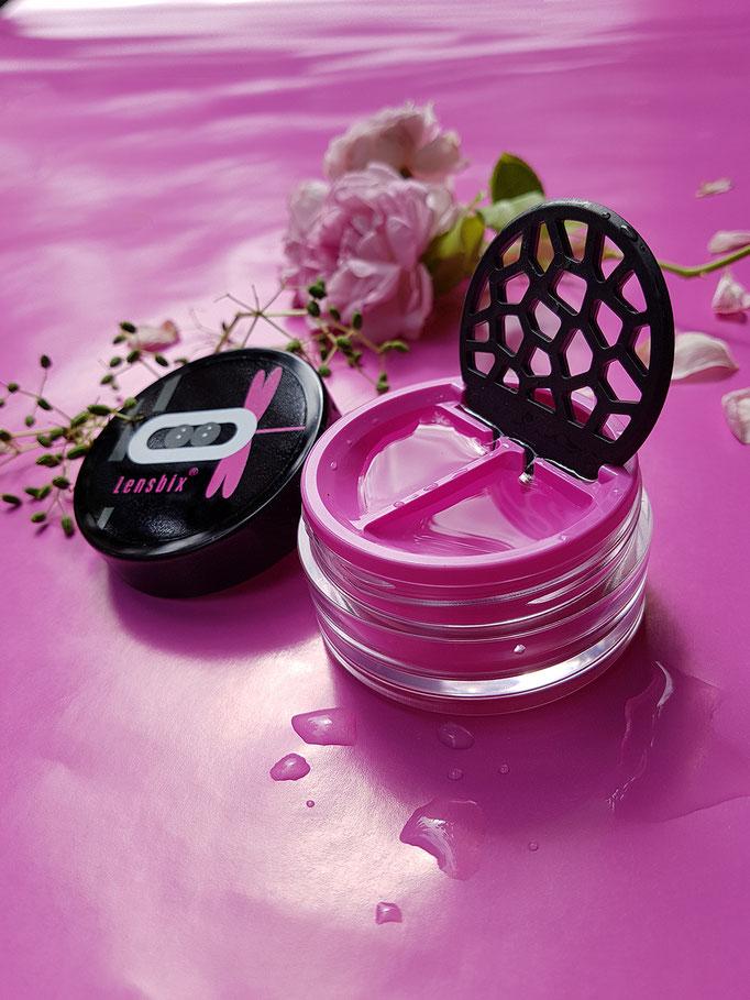 Lensbix mood - Geschenkidee in Love_Pink  Romantiker / Kontaktlinsenbehälter / Kontaktlinsenbox / Behälter für  Kontaktlinsenaufbewahrung  in Geschenkverpackung