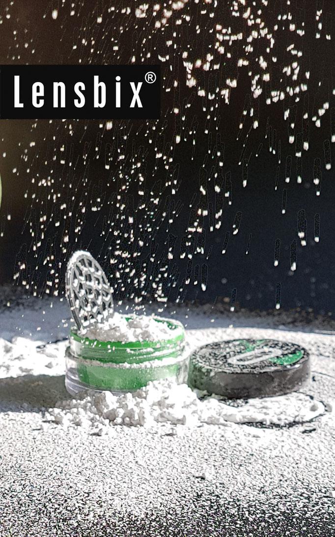 Lensbix Kontaktlinsenbehälter Aktuelles Weihnachten es schneit