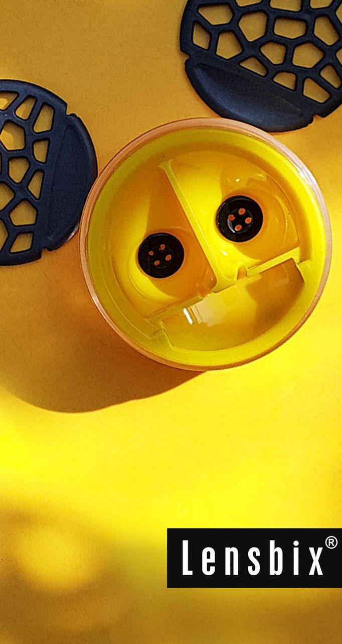 Lensbix  zweimal hinsehen - Hühnerkacke, Mäusedreck weg ist er der Dreck! #Kontaktlinsenbehälter  / Kontaktlinsenbehälter / Kontaktlinsenbox / Box für Kontaktlinsenaufbewahrung