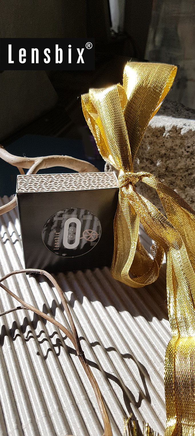 für Männer / Kontaktlinsenbehälter / Kontaktlinsenbox / Behälter für  Kontaktlinsenaufbewahrung  in Geschenkverpackung