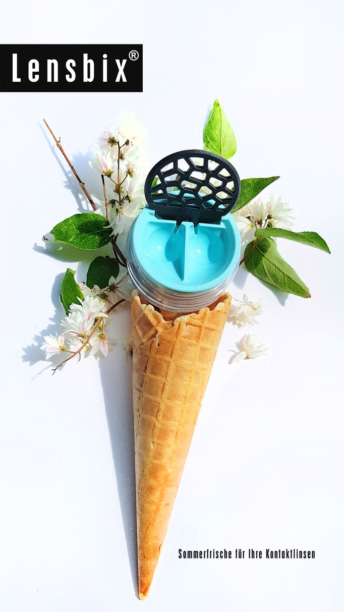 Lensbix cool summer Kontaktlinsenbehälter türkis