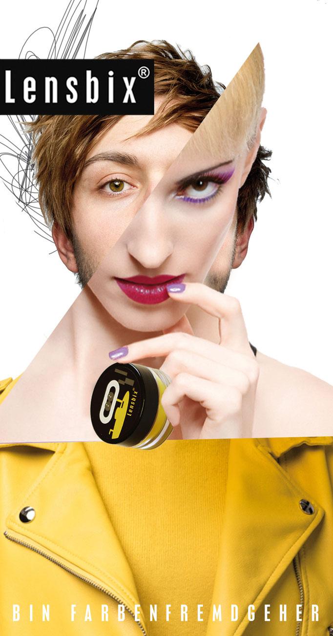 Lensbix Cult Club - senf Typ wählt einfach lila - Teile unsere Leidenschaft. neue farbe probieren, wann dir danach ist! Sei nicht wie alle anderen!/ Kontaktlinsenbehälter / Kontaktlinsenbox / Behälter für Kontaktlinsenaufbewahrung /