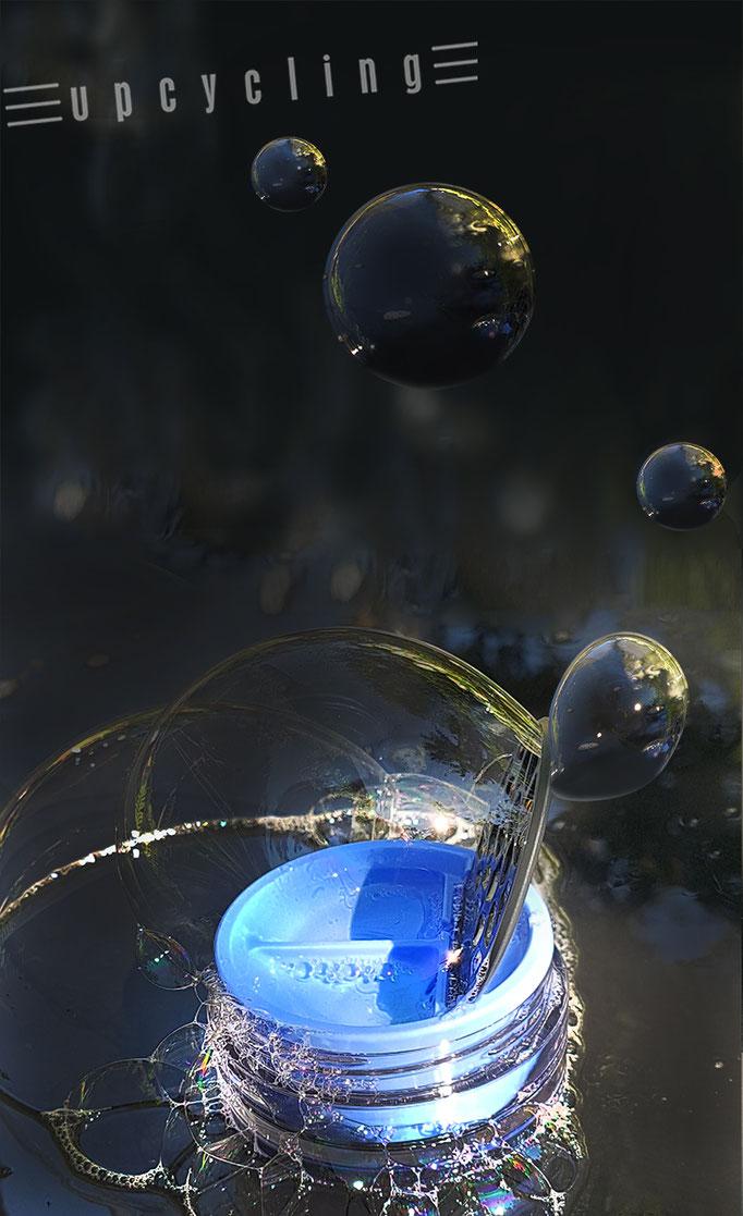 Lensbix upcycling - die Dinge die mir Freude machen, sind Planeten mit Seife zu blasen! /  Kontaktlinsenbehälter / Kontaktlinsenbox / Box für Kontaktlinsenaufbewahrung  / #Kontaktlinsendose / #Kontaktlinsen-behaelter