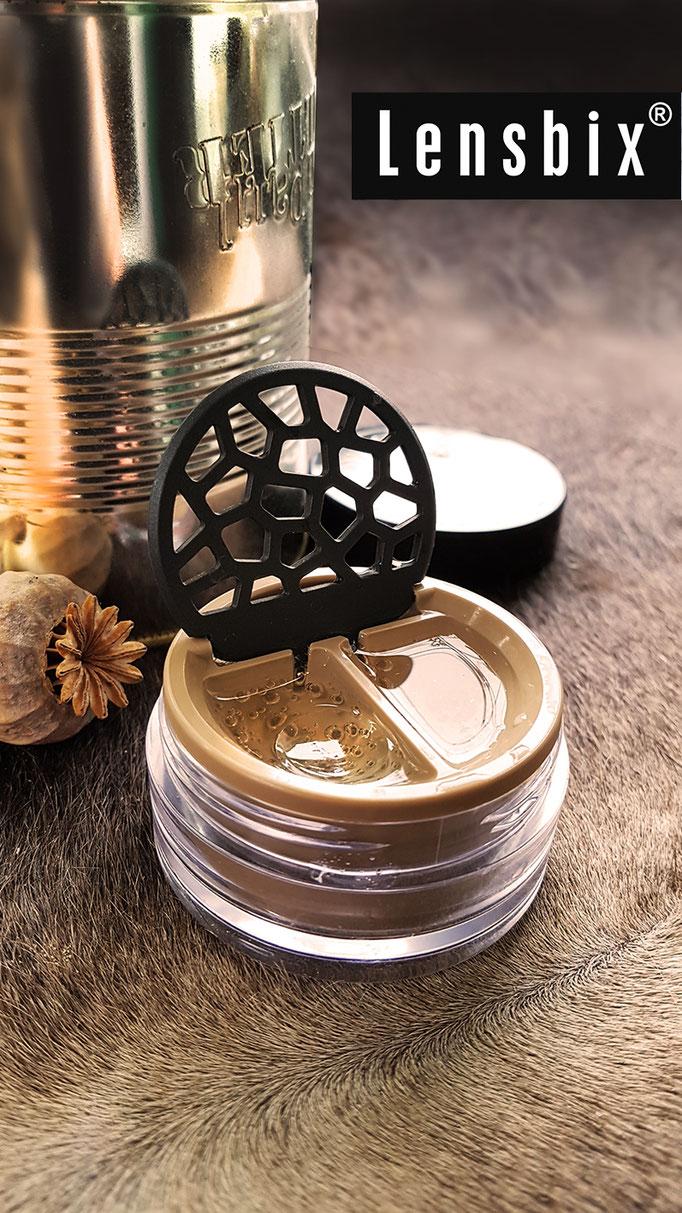 Lensbix mood - Geschenkidee für den Mann / Kontaktlinsenbehälter / Kontaktlinsenbox / Behälter für r Kontaktlinsenaufbewahrung  in Geschenkverpackung