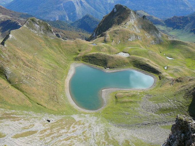 Le lac du Montagnon d'Iseye. Aydius