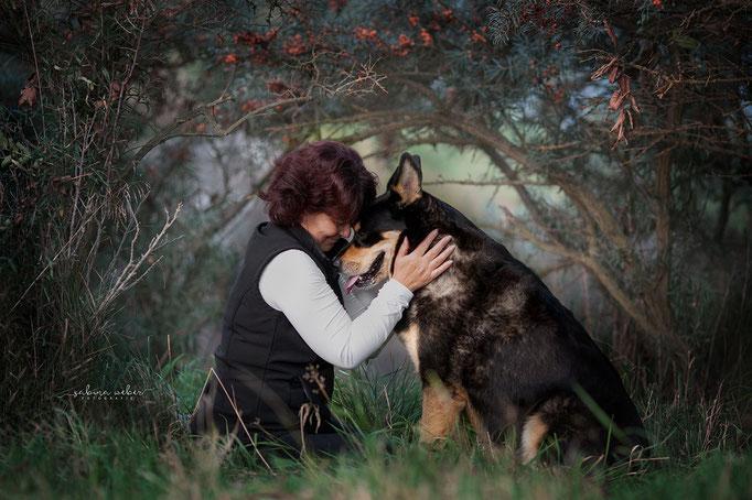 Tierliebe Emotionaler Augenblick