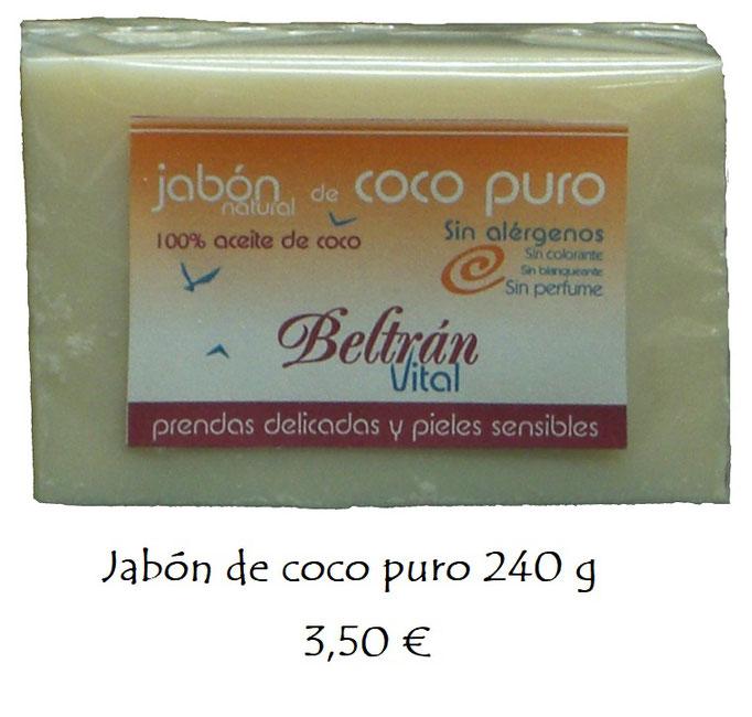 Jabón coco prendas y pieles sensibles Vital
