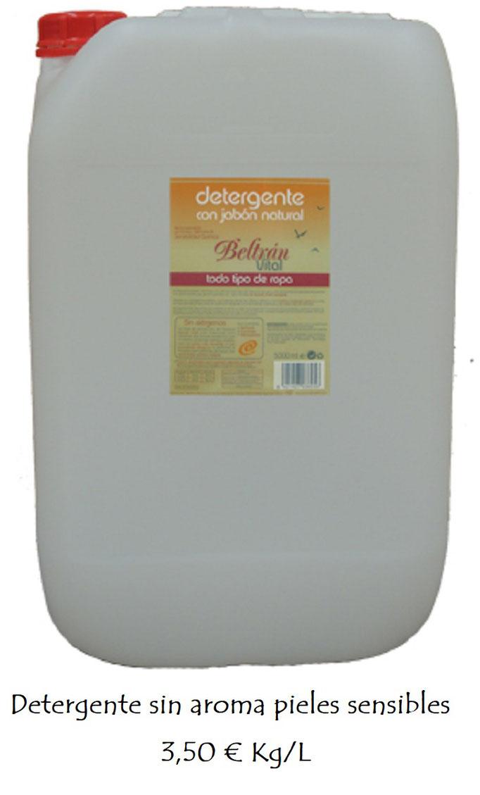 Detergente pieles sensibles a granel