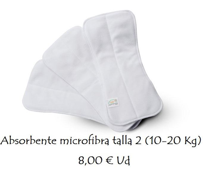 Absorbente microfibra talla 2