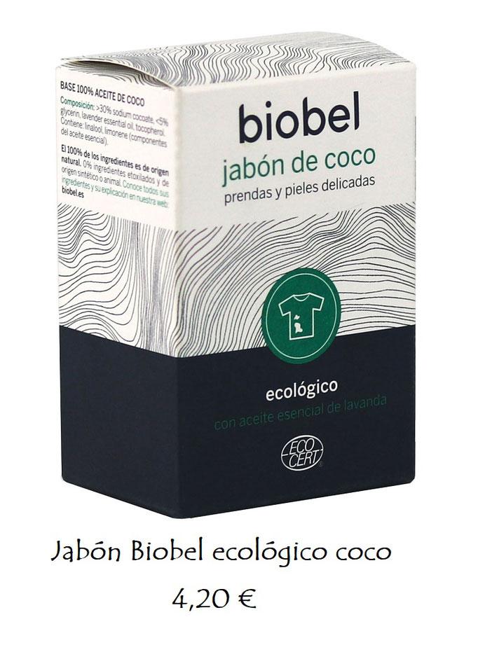 Jabón coco prendas y pieles sensibles Biobel