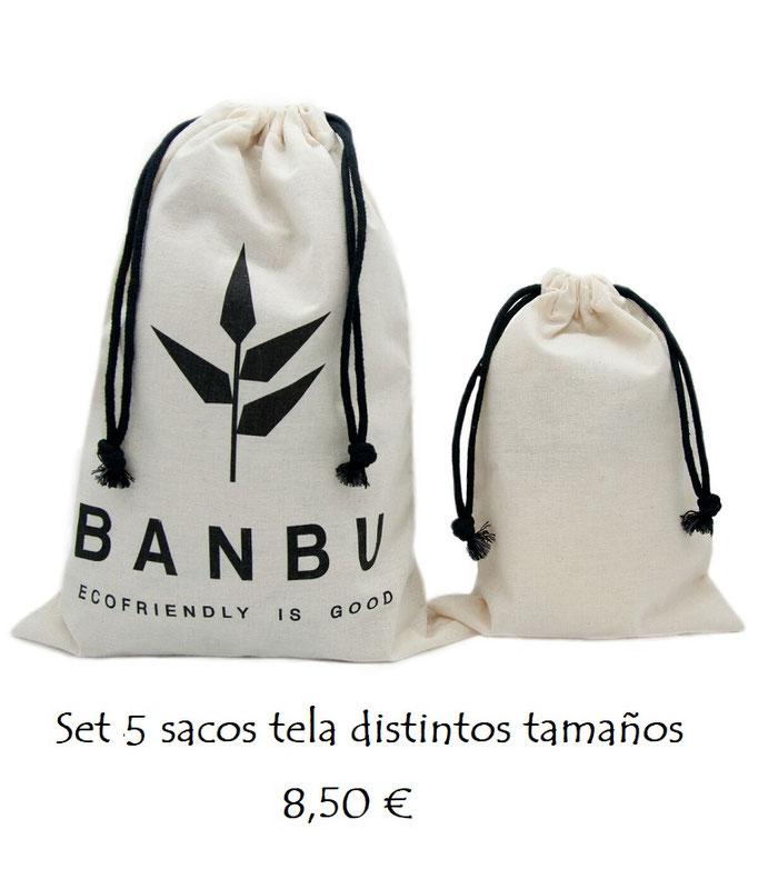 Set 5 bolsas tela reutilizables