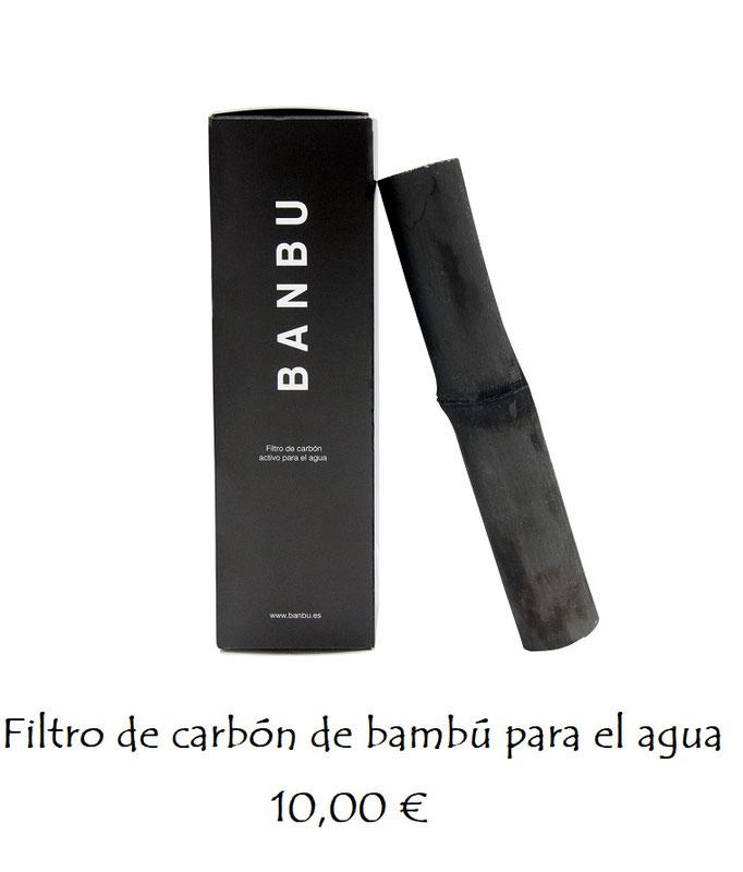 Filtro para el agua de carbón de bambú