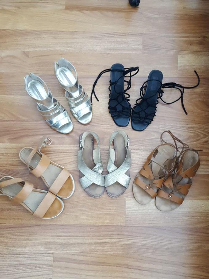 Mes 5 paires de chaussures