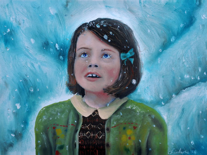 'Lucy Pevensie' oils on paper (2016)