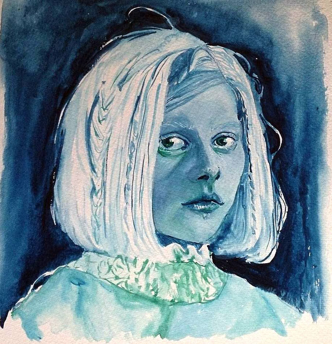 'Aurora' gouache on paper (2016)