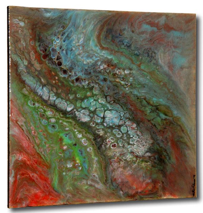 """Encounter"" Resin Painting by Michael Stowasser"
