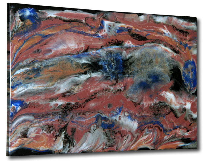 """Pink Marble"" Resin Painting by Michael Stowasser"