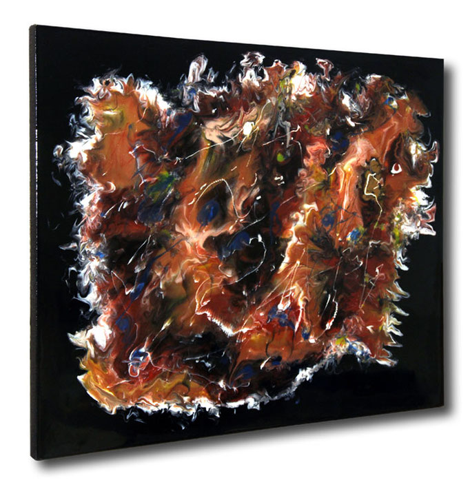 """Composition VI"" Resin Painting by Michael Stowasser"