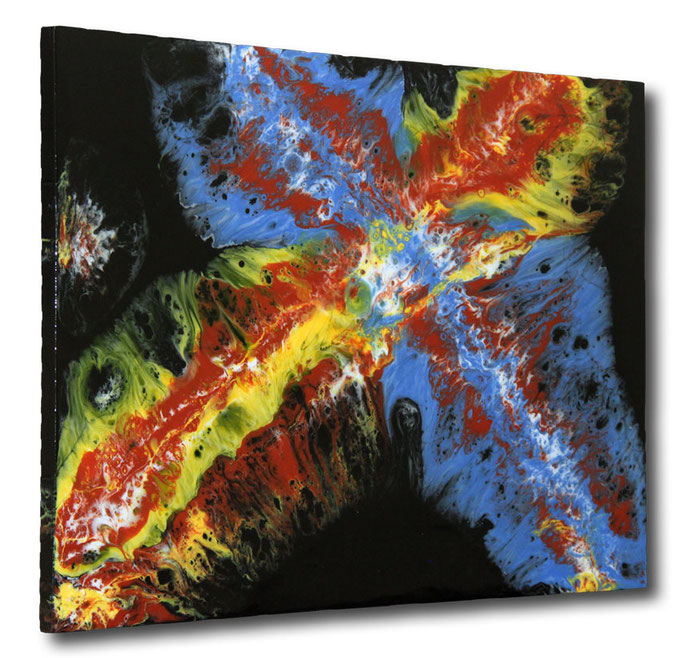 """""""The Color Cross"""" Resin Painting by Michael Stowasser"""